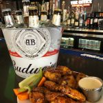 smoked wings and beer buckets